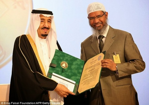 Zakir Naik was awarded the Saudi Arabia's King Faisal International Prize on 3rd February, 2015